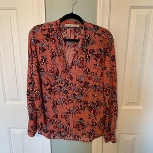 Abercrombie & Fitch floral print blouse size med